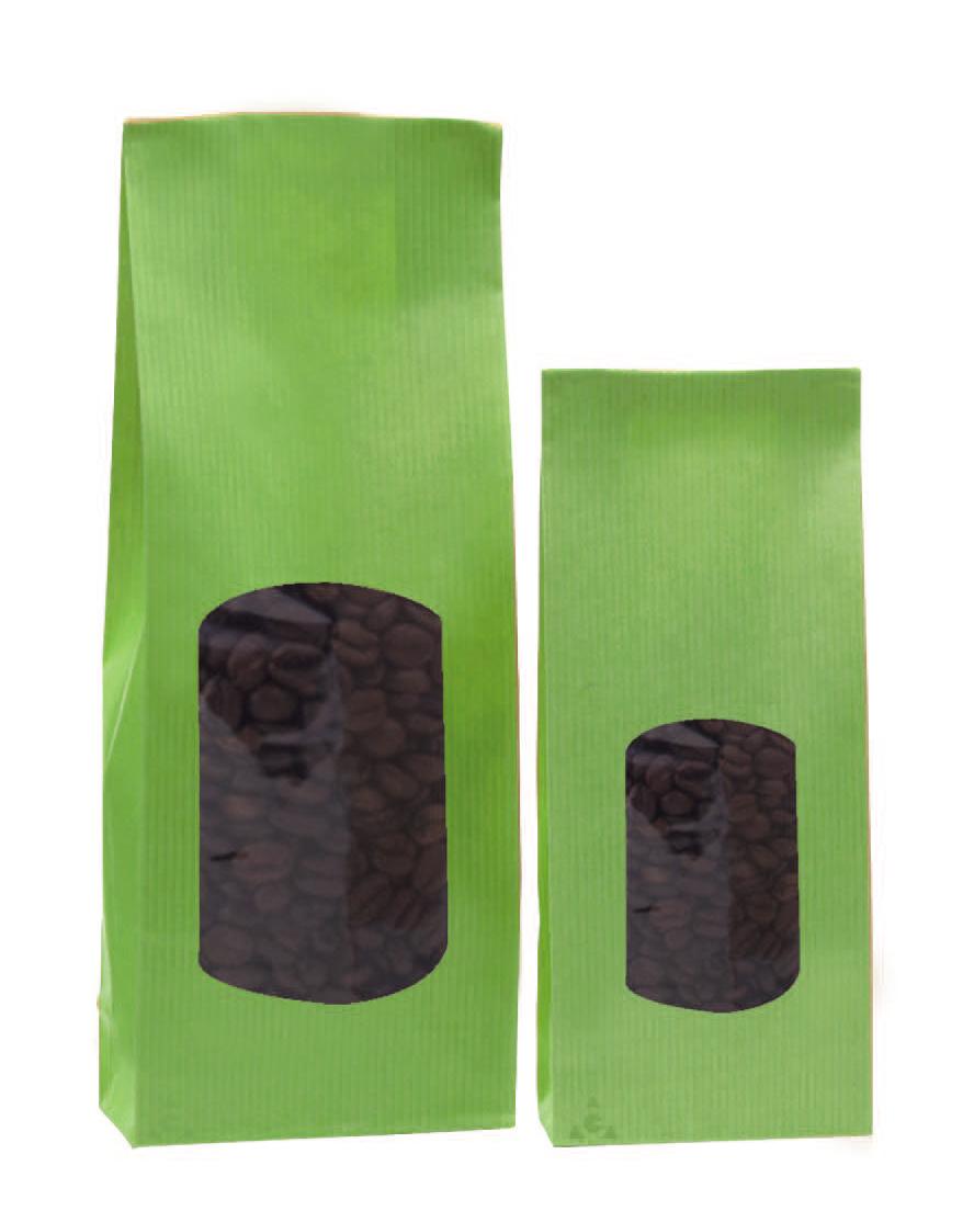 bolsas de papel kraft verde