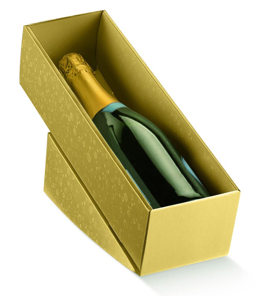 Vin carton d/'expédition pour 1 bouteille Emballage expédition Champagne Prosecco 2 Pièce