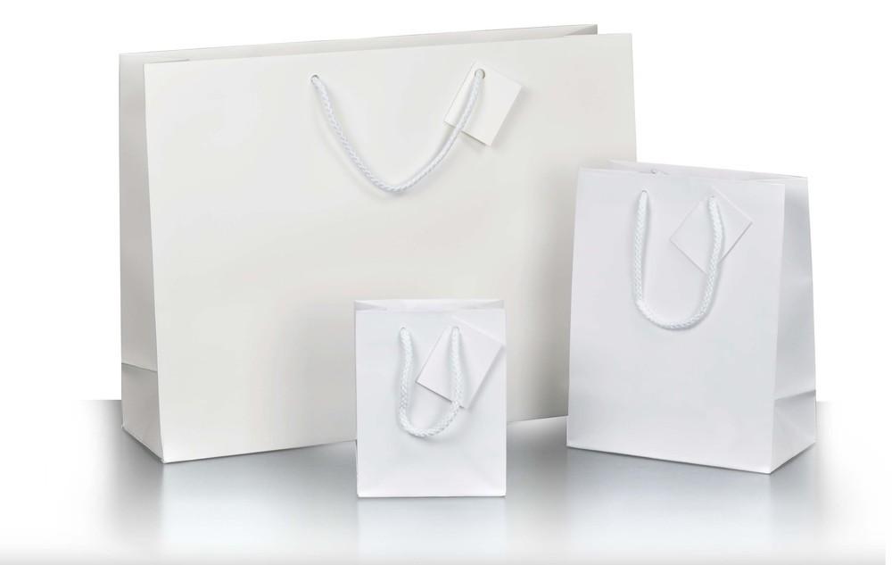 sac boutique blanc mat ecobag store. Black Bedroom Furniture Sets. Home Design Ideas