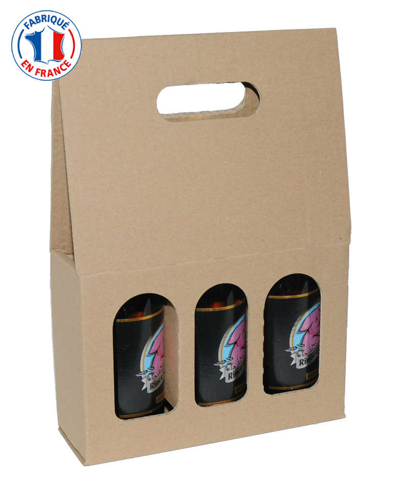 coffret carton 3 bouteilles de bi re 33cl ecobag store. Black Bedroom Furniture Sets. Home Design Ideas
