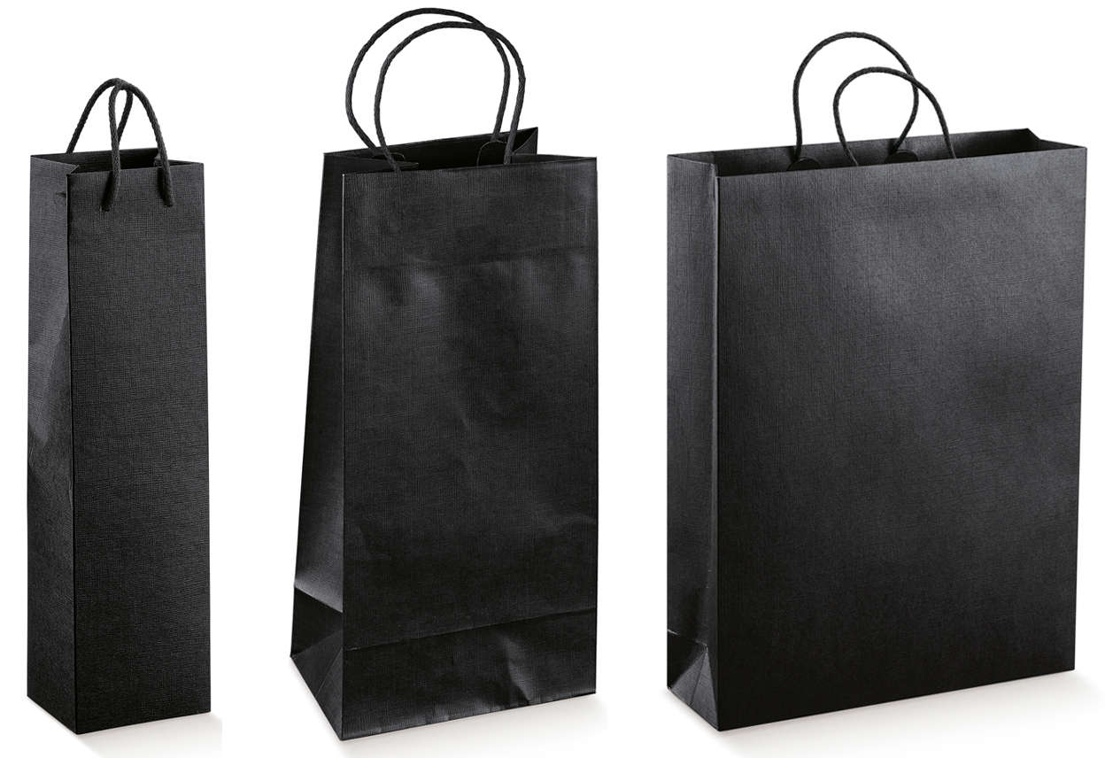 sacs kraft collection seta nero 1 2 3 bouteilles ecobag store. Black Bedroom Furniture Sets. Home Design Ideas