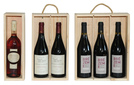 Coffret bois type Plumier 1, 2, 3 bouteilles  : Bouteilles