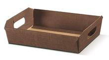 Corbeille en carton couleur   Chocolat : Corbeilles & paniers