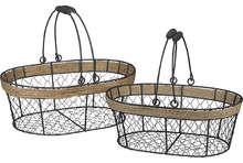Panier métal / corde oval : Corbeilles & paniers