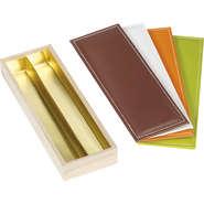 Coffret bois 2 rangées + couvercle simili cuir : Nouveautés