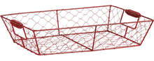Corbeille métal rouge : Corbeilles & paniers