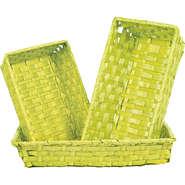 Corbeille bambou vert anis : Corbeilles & paniers