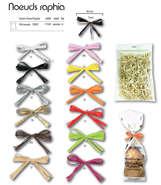 100 Nœuds raphia Twist : Accessoires emballages