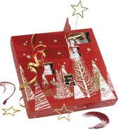 Calendrier de l'Avent rouge 24 cases : Spécial fêtes