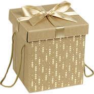 Coffret carton cadeau or et rouge : Boites