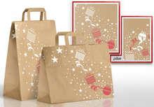 Sacs kraft brun recyclé Noël : Spécial fêtes