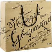 Sac papier kraft décor Voyage Gourmand noir : Recherche