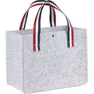 Sac feutre rectangle gris clair  : Sacs