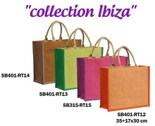 Collection jute IBIZA       350+150x300mm : Sacs shopping