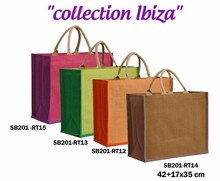Collection jute IBIZA 420+170x350mm : Sacs shopping