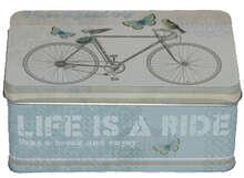 "Boite métal à thé ""BICYCLE"" : Boites"