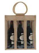 Sac jute 3 bouteilles 75 cl + fenêtre : Bouteilles