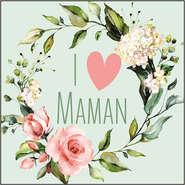 Etiquette I love maman : Accessoires emballages