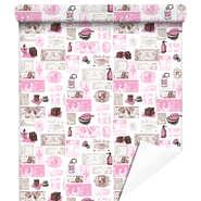 Papier cadeaux Fragances rose/gris : Accessoires emballages