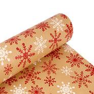 Papier cadeau  kraft brun Flocons : Accessoires emballages