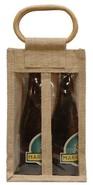 Sac jute 2 bouteilles 37.5 cl + fenêtre : Bouteilles