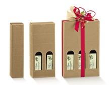 Coffrets carton huile d'olive Hauteur 215 mm : Bouteilles