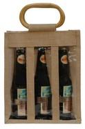 Sac jute 3 bouteilles  37.5 cl + fenêtre : Bouteilles