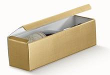 Coffret carton pour 1 bouteille, couleur  Or : Bouteilles