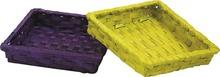 Corbeille carré bambou teinté  : Corbeilles & paniers