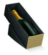 coffret carton pour 1 bouteille allongée : Bouteilles