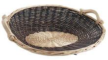 Van en osier brut et blanc 56/50 x 19 cm : Corbeilles & paniers