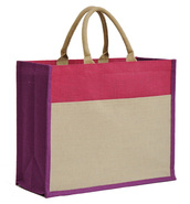Collection jute IBIZA avec pochette 420+170x350mm : Sacs shopping