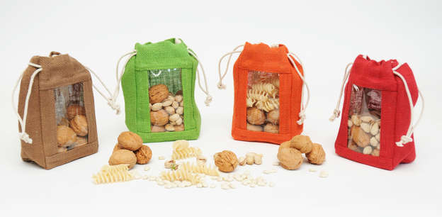 Sacs pochons jute colorés : Special celebration