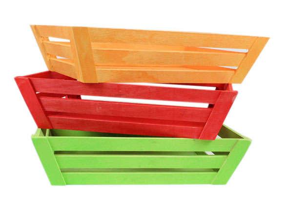Corbeilles COLOR en bois : Corbeilles & paniers