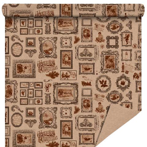 """Rouleau papier cadeau """"Noël Vintage"""" : Accessoires emballages"""