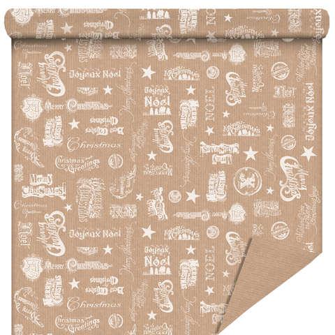 """Rouleau papier cadeau """"Joyeux Noël"""" : Accessoires emballages"""