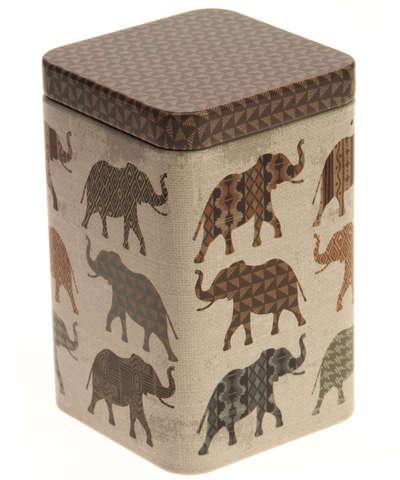 "Boite métal à thé ""ELEPHANT"" : Boites"
