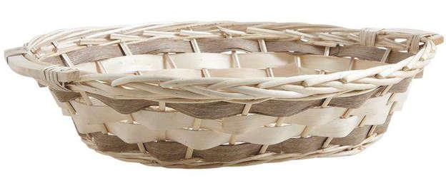 Corbeille ovale en osier : Corbeilles & paniers
