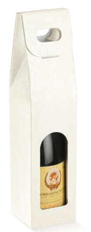 Coffret carton 1 bouteille fenêtre + Motifs : Bouteilles