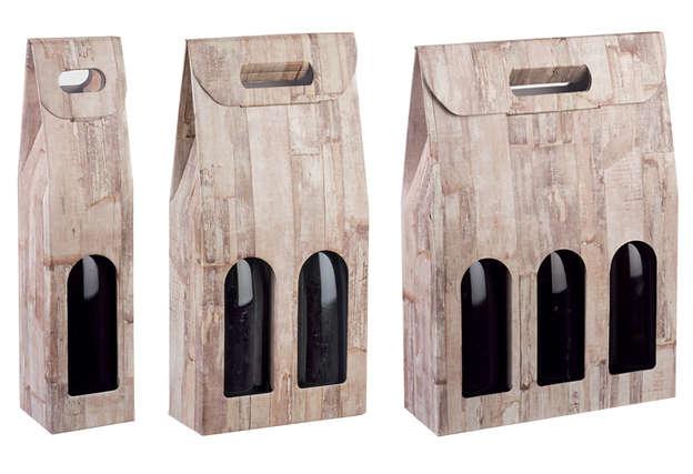 Collection MOTIF BOIS 1,2,3 bouteilles : Bouteilles