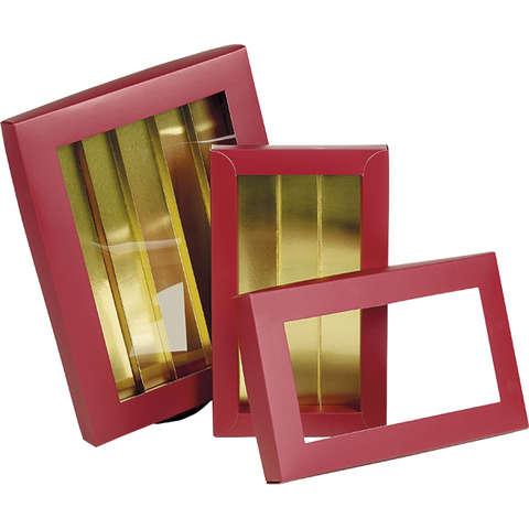 Coffret carton chocolats ROUGE / OR : Boites
