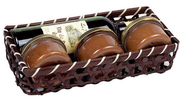 Corbeille bambou marron : Corbeilles & paniers