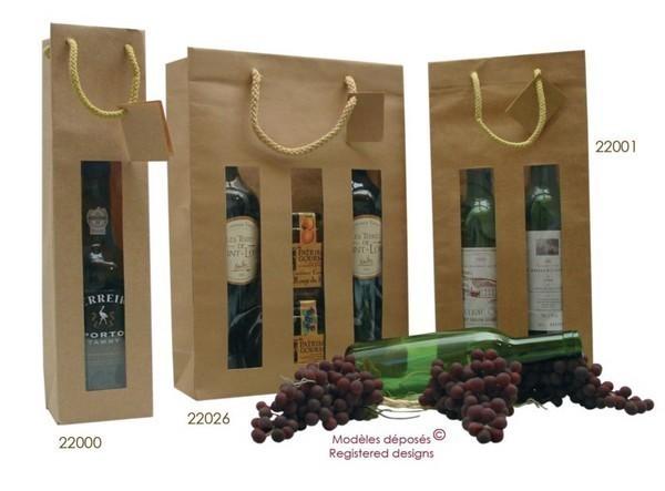 Les sacs fenêtres pour 1, 2 et 3 bouteilles : Bouteilles