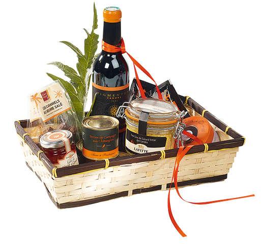 Corbeille bambou rectangle - liseré marron : Corbeilles & paniers