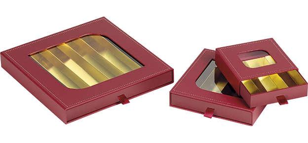 Coffret carton carré chocolats : Boites