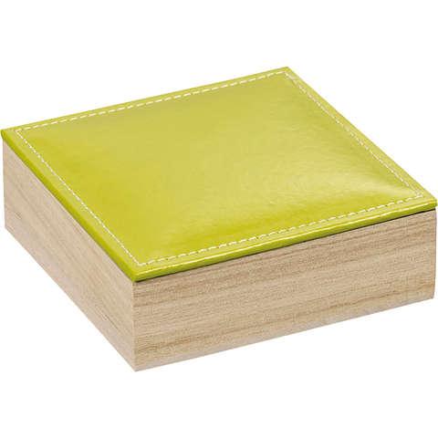 Coffret bois 3 rangées + couvercle simili cuir : Boites
