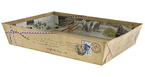 Corbeille carton COTTAGE : Corbeilles & paniers