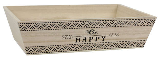 Corbeille bois - BE HAPPY : Corbeilles & paniers