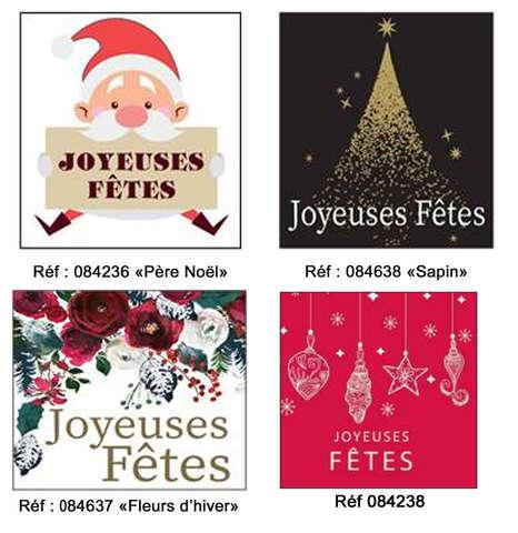 Etiquettes Joyeuses Fêtes : Accessoires emballages