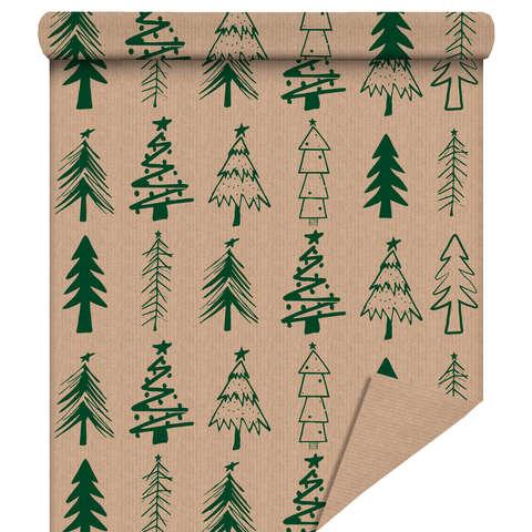 """Rouleau papier cadeau """"Sapin Vert"""" : Accessoires emballages"""